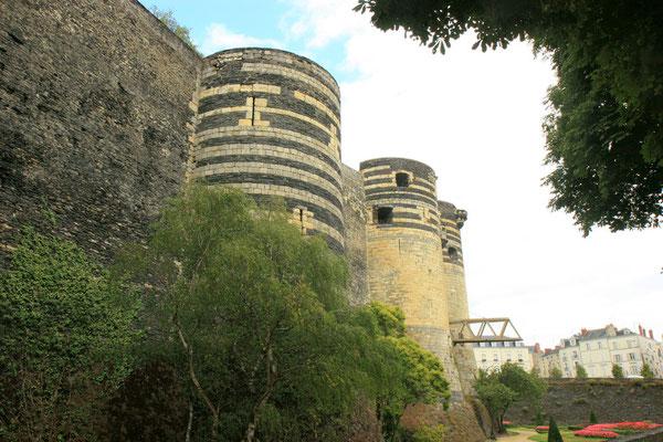 Nach außen imponiert sie als Festung Ludwig des Heiligen durch die Wucht ihrer 17 Türme und ihrer Wehrmauer.  Die Festung nimmt ein Areal von über 20 000 m² ein.