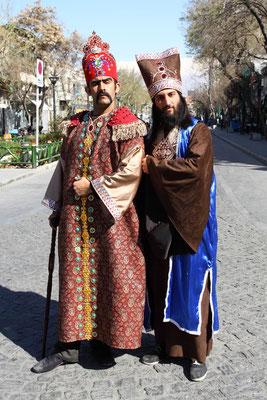 Palastwächter in historischem Gewand