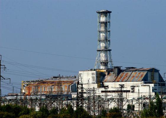 """Der tote Reaktor von Tschernobyl - mehr Infos und Fotos hierzu im Kapitel  """" Zeitgeschehen""""."""