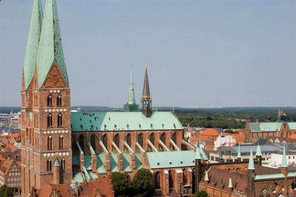 die Marienkirche, erbaut 1250-1350, Zeichen des Wohlstandes der Hansestadt