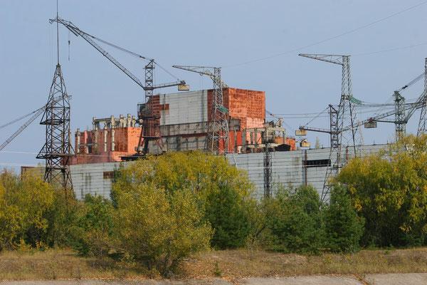 Bauruinen der neuen Blöcke 5 und 6, die nicht mehr fertiggestellt werden