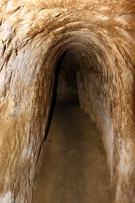 Heute etwas vergrößert, betrug die ursprüngliche Höhe der Tunnel gerade mal 60 cm.