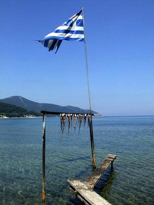 im Hafen von Limenas, dem Hauptort der Insel