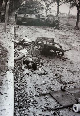 ob der Panzer die toten Kinder noch sieht oder sehen will ?