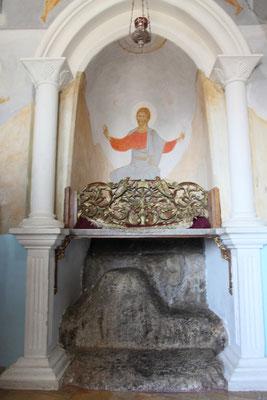 Im Jahr 340 wurde hier eine kleine Kapelle errichtet. Die griechisch-orthodoxe Kirche kaufte 1874 das Gelände mit der Kapelle und der Burg