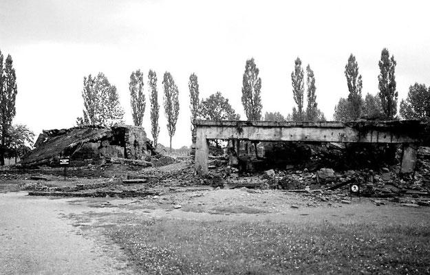 gesprengte Versuchsanstalt von Dr. Josef Mengele