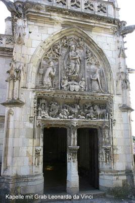 Grabkapelle Leonardo da Vincis innerhalb der Schlossanlage