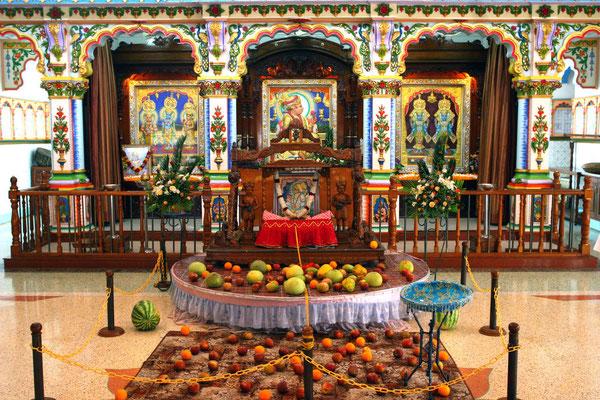 Altar im Obergeschoss des Tempels