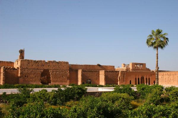 Palais el-Badi ebenfalls aus dem 16. Jhdt., der gleiche Erbauer wie der Tombeaux saadiens