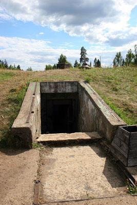 Eingang zum unterirdischen Kontrollzentrum