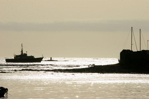 Sunset am Hafen