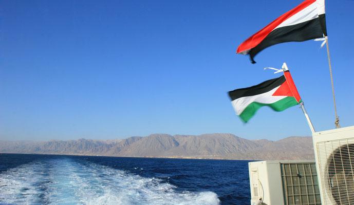 Fahrt vom Sinai über den Golf von Aqaba