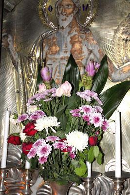 Das Grab Jesu Christi - natürlich leer, denn er ist ja auferstanden. Als Maria Magdalena nach der Aufbahrung im Felsen den Leichnam abends nochmals aufsuchte, fand sie das Grab leer. Hier beginnt der Glaube.