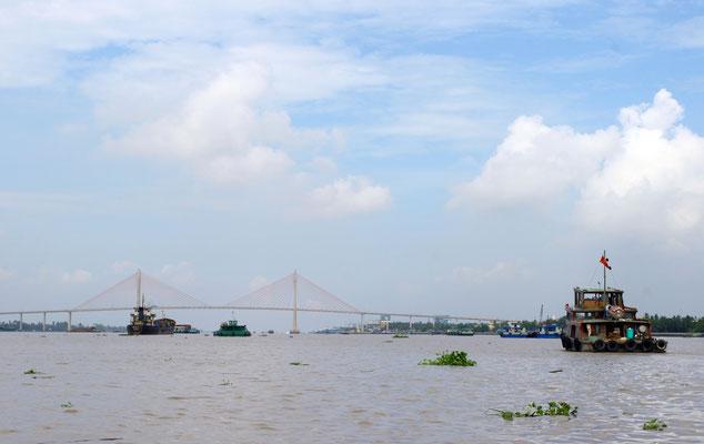 Wir fahren weiter auf dem Mekong Richtung Kambodscha