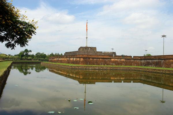 Die Zitadelle von Alt Hue: im 17. Jhdt. erbaut, seit 1993 als Welterbe unter den Schutz der UNESCO gestellt