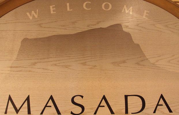 Die gewaltige Felsenfestung Masada am Toten Meer, von Herodes im Jahr 37 v. Chr. weitläufig ausgebaut.