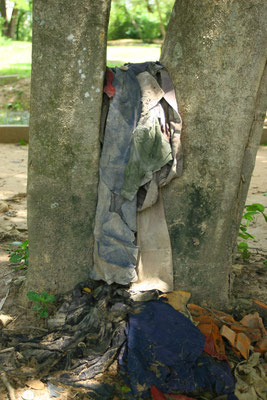 Reste der Original-Häftlingsbekleidung