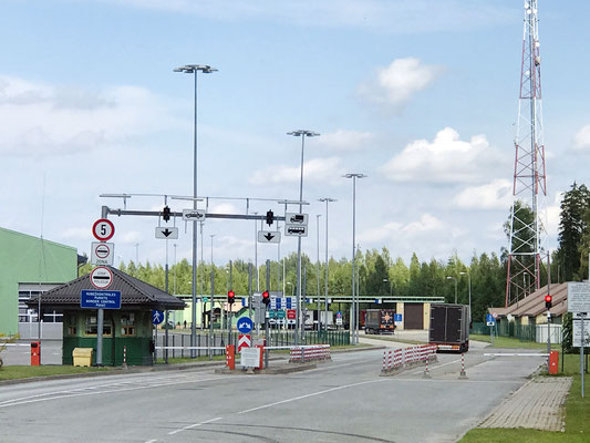 Am Grenzübergang Zilupe beginnt Putins Reich