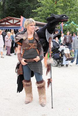 Höhepunkt der Mittelalterwoche ist das Ritterturnier, bei dem die schwedischen Ritter um Ruhm und die Gunst der Damen kämpfen.