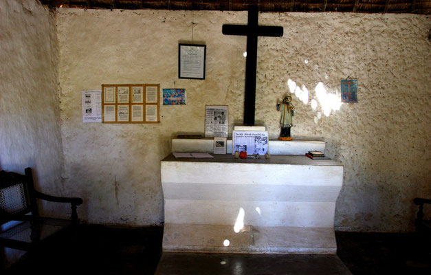 im Inneren der Kirche, die noch im Original erhalten ist