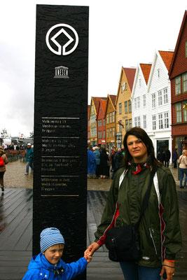 Seit 1979 steht das Hanseviertel Bryggen mit seinen etwa 60 Gebäuden auf der Liste des Weltkulturerbes der UNESCO