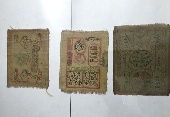 Die Geldscheine wurden aus Seide gefertigt und waren sogar waschbar.