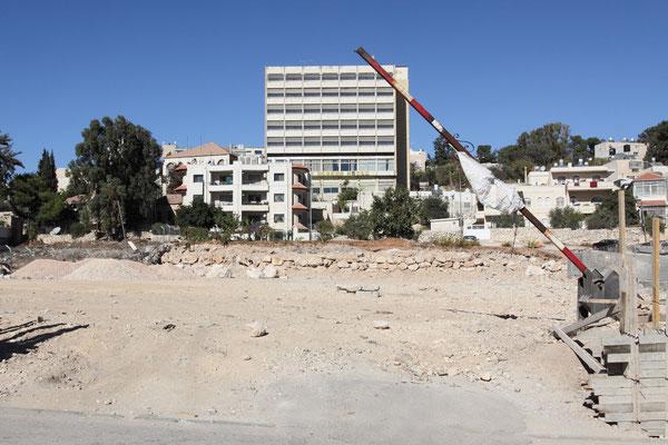 Von Bulldozern geräumte Siedlung in Jerusalem. Da keine aktuellen Besitzurkunden existieren, ist das Grundstück lt. Historie osmanisches Eigentum