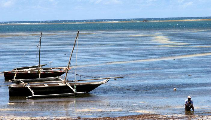 Fischer warten auf die Flut