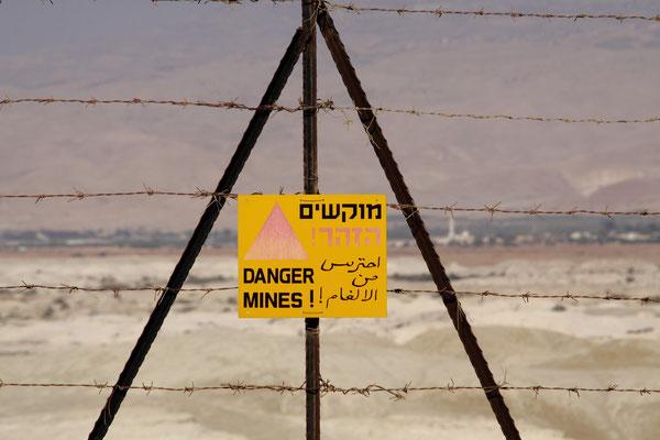 Aus Angst vor der Wiederholung des Yom-Kippur-Krieges sind weite Teile des israelischen Territoriums auch hier vermint.