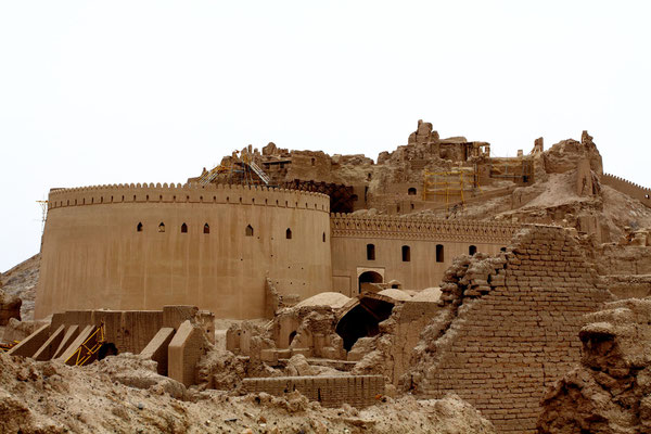 Die Festung, die  wegen ihrer historischen Bedeutung zum UNESCO-Weltkulturerbe gehört, wurde vom Erdbeben vollständig zerstört.
