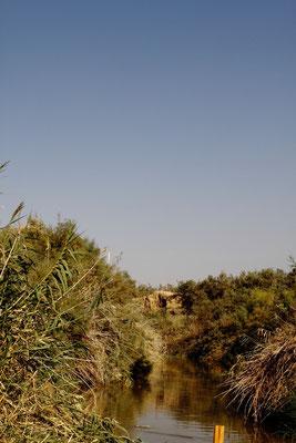 Ein Stück flussaufwärts ist der Jordan nur ein besserer Bach.