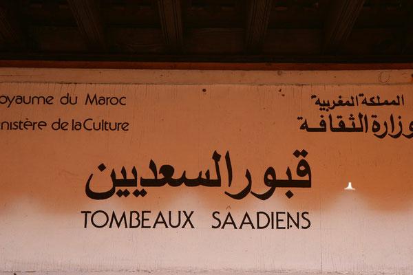 Tombeaux saadiens: Moulay Ahmed el-Mansour aus der Saadierdynastie baute dieses imposante Grabmal Ende des 16. Jhs.