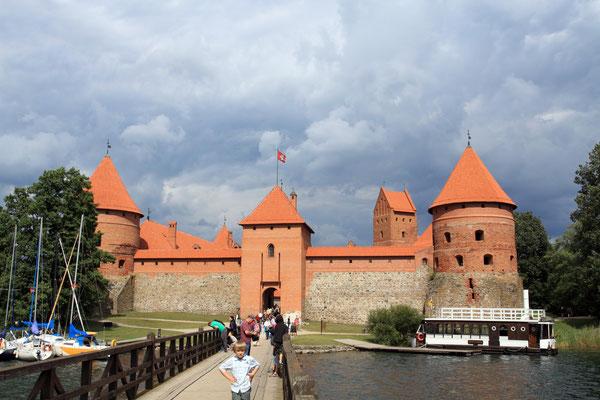 Im Nordischen Krieg 1655 zerstört wurde sie in den 50-er Jahren wieder aufgebaut, auch gegen den Wiederstand der Russen.