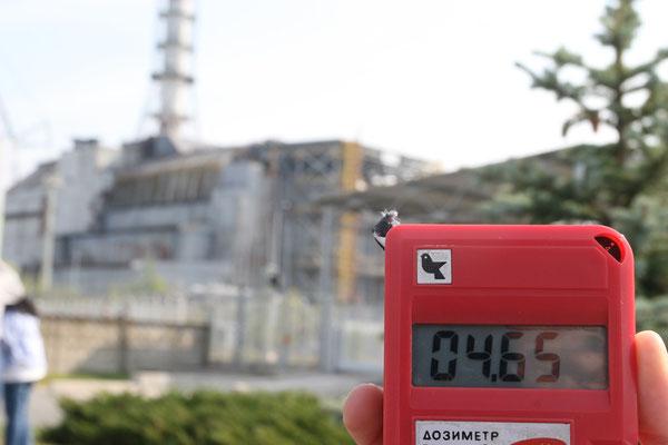 hohe Strahlenintensität unmittelbar am Reaktor von bis zu 10 mR/h