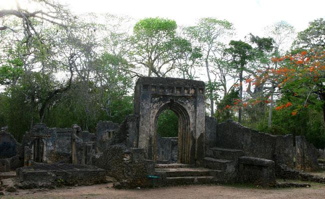 Gedi - Nationalmonument: im dichten Wald uralter Baobab-Bäume verborgen liegen die Ruinen einer arabisch-afrikanischen Stadt