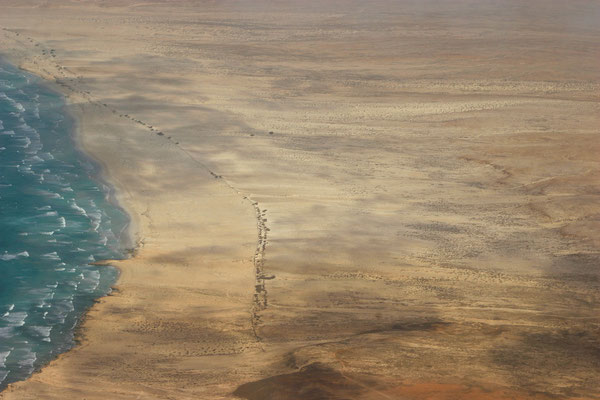 Anflug auf die Wüsteninsel Boavista