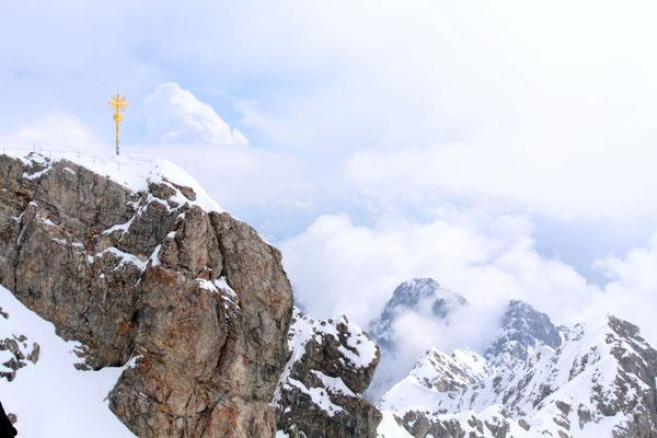 Die Zugspitze - mit 2962 m  der höchste Berggipfel Deutschlands.