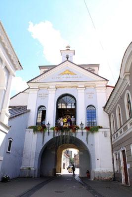 Das Tor der Morgenröte als einziges erhaltenes Stadttor im Stil der Renaissance erbaut.