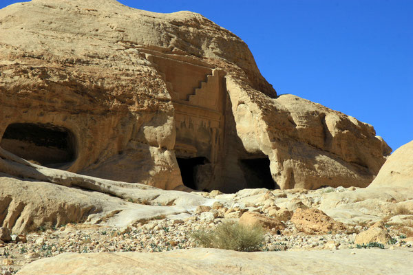 Nabatäische Totenhäuser aus der Zeit des 1. Jhdt. v. Chr. bis 5. Jhdt. n. Chr.