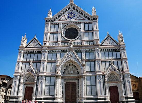 Basilika Santa Croce von 1294 mit den Gräbern Michelangelos und Galileo Galileis