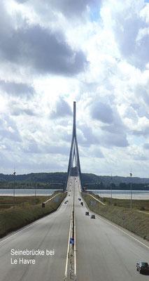 Die Brücke von Le Havre über die Seine