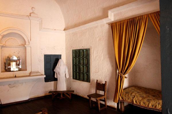 """Viele der reichen spanischen Familien gaben ihre zweite Tochter für """"Gott und Himmelreich"""" ins Kloster. Die etwa zwanzig derzeit im Kloster lebenden Nonnen wohnen in einem Seitenflügel."""