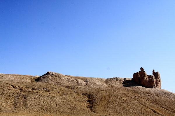 Neben dem Friedhof die Reste der Festung Gyaur Kala aus dem 4.-2. Jhdt. v. Chr.