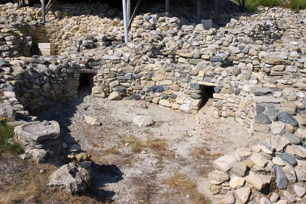 Da die Hütten eng beieinander standen, haben die vielleicht 1000 Dorfbewohner ein familienähnliches Verhältnis gepflegt.