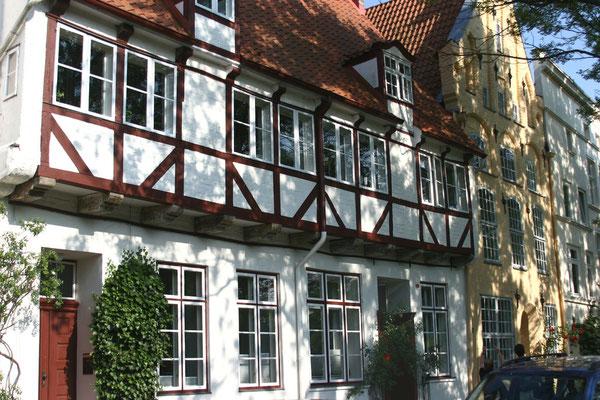 historische Fachwerk- und Giebelhäuser im Malerwinkel