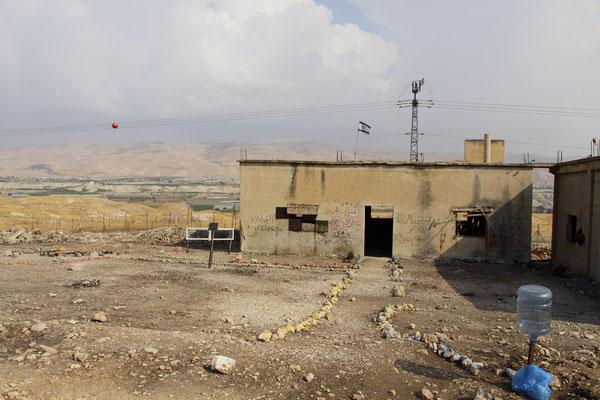 wieder unterwegs in Richtung See Genezareth und Golan Kriegsrelikte an der jordanischen Grenze