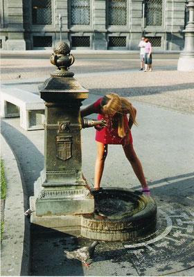 der Durst bei der Wärme ist groß, das Wasser in Mailand schmeckt sehr gut