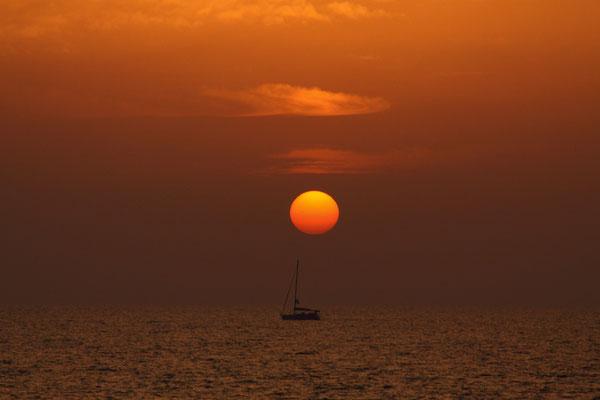 was wäre ein Urlaubsende ohne Foto eines Sonnenuntergangs - Shalom Israel.