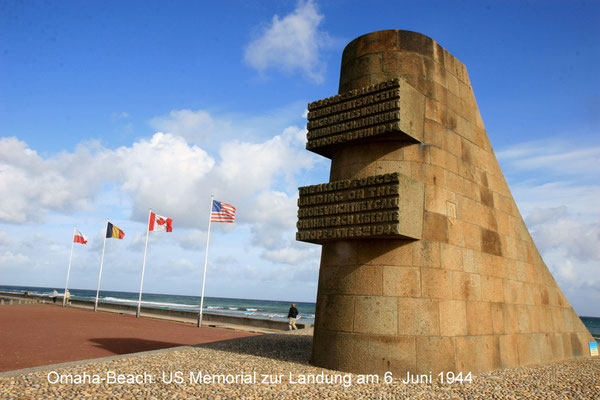 Omaha beach -  US Memorial zur Landung am 6.Juni 1944
