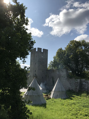 Die Stadt ist von einer 3 km langen Stadtmauer umgeben. Mit ihren fünfzig Wachtürmen, Toren, Zugbrücken und Wällen gibt sich die mittelalterliche Stadt so trotzig, als müsse sie ihren Reichtum aus der Hansezeit auch heute noch vor Plünderern schützen.